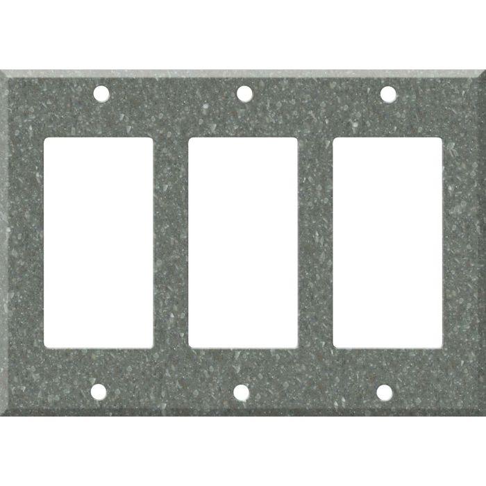 Corian Pine Triple 3 Rocker GFCI Decora Light Switch Covers