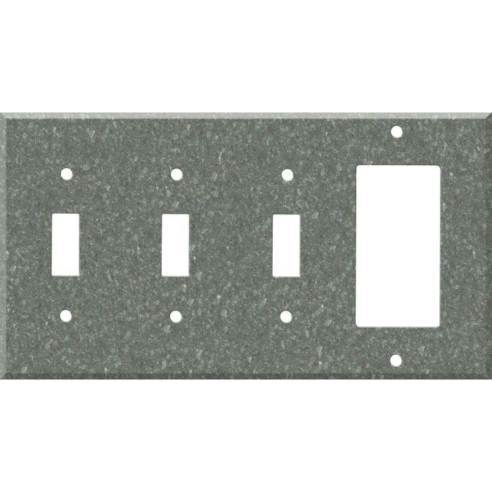 Corian Pine Triple 3 Toggle / 1 Rocker GFCI Switch Covers
