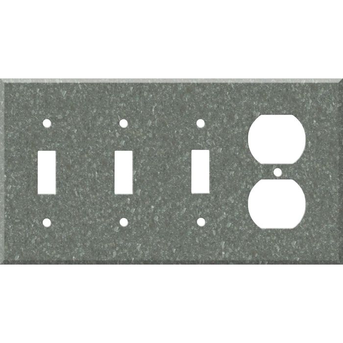 Corian Pine Combination Triple 3 Toggle / Outlet Wall Plate Covers