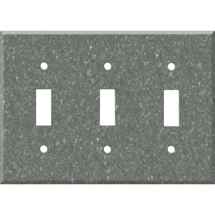 Corian Pine Triple 3 Toggle Light Switch Covers