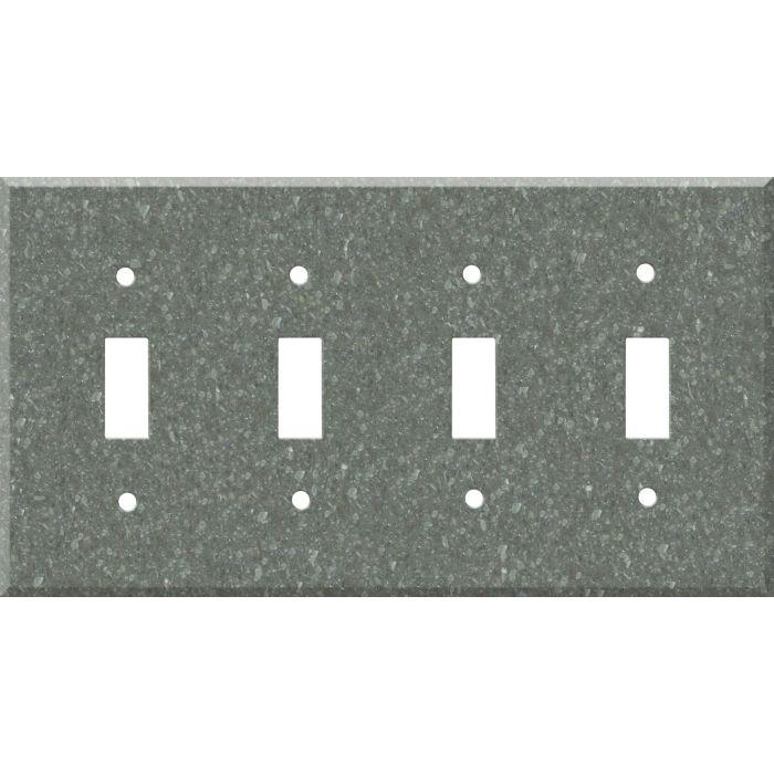 Corian Pine Quad 4 Toggle Light Switch Covers