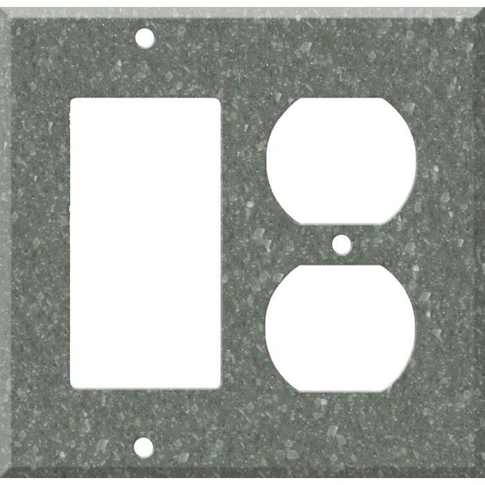 Corian Pine Combination GFCI Rocker / Duplex Outlet Wall Plates