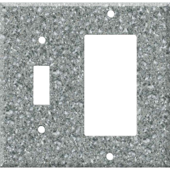 Corian Platinum Combination 1 Toggle / Rocker GFCI Switch Covers