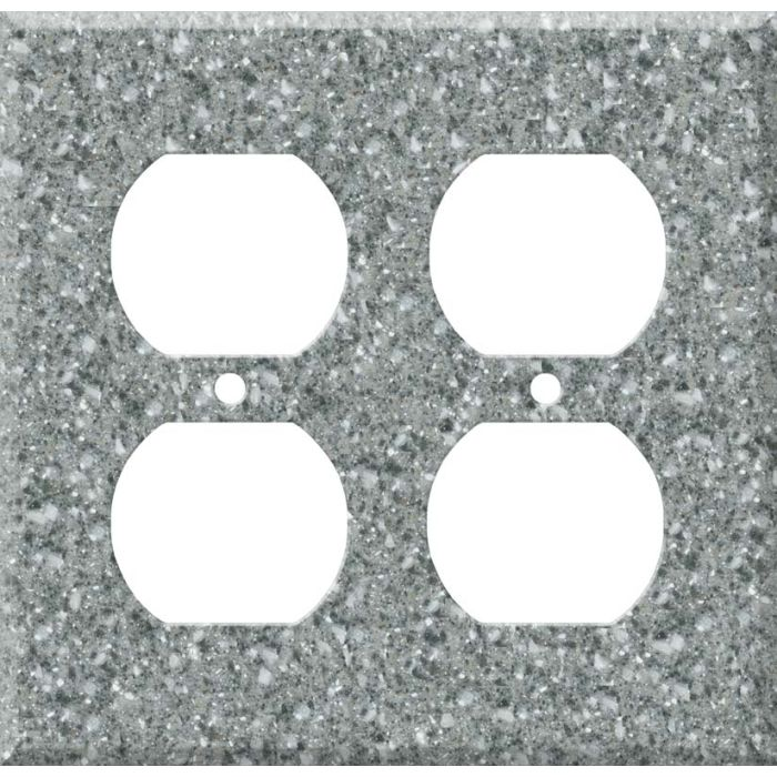 Corian Platinum 2 Gang Duplex Outlet Wall Plate Cover