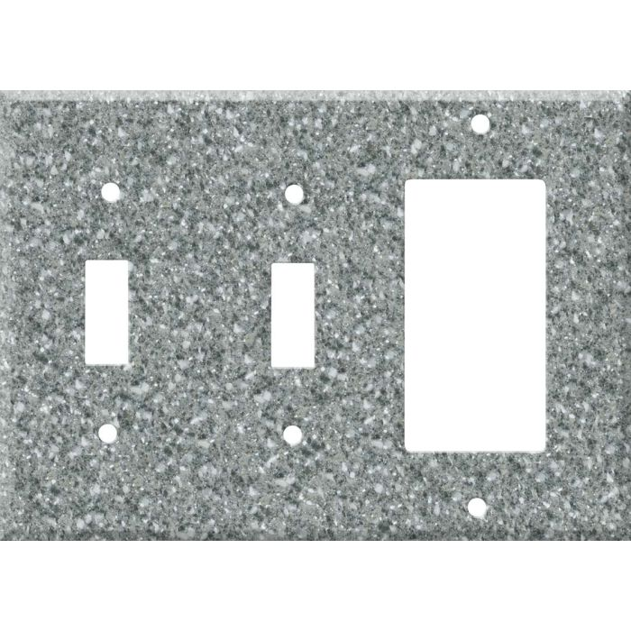 Corian Platinum Double 2 Toggle / 1 GFCI Rocker Combo Switchplates