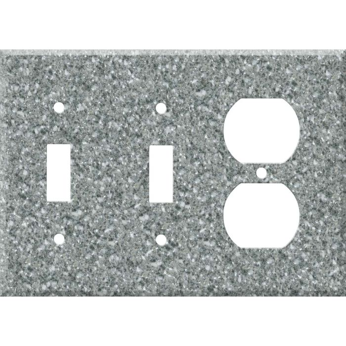 Corian Platinum Double 2 Toggle / Outlet Combination Wall Plates