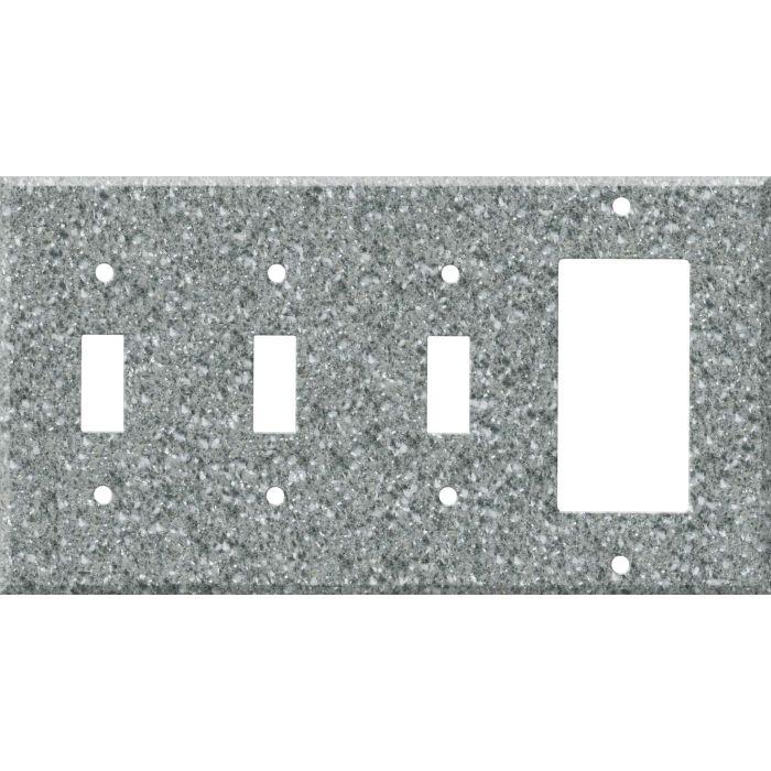 Corian Platinum Triple 3 Toggle / 1 Rocker GFCI Switch Covers