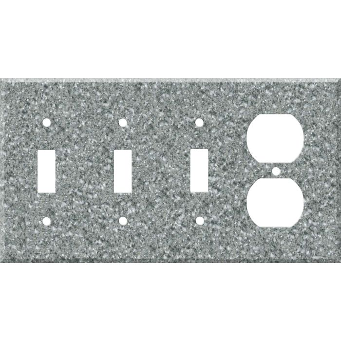 Corian Platinum Combination Triple 3 Toggle / Outlet Wall Plate Covers
