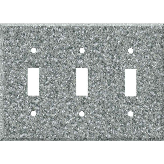 Corian Platinum Triple 3 Toggle Light Switch Covers