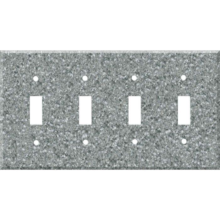 Corian Platinum Quad 4 Toggle Light Switch Covers