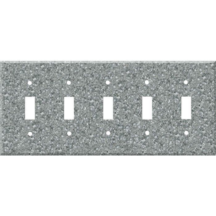 Corian Platinum 5 Toggle Wall Switch Plates