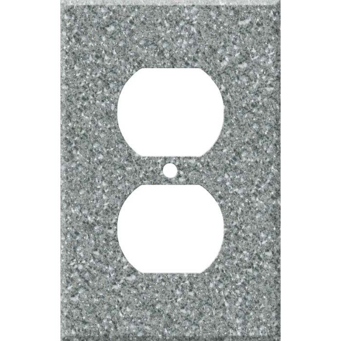 Corian Platinum 1 Gang Duplex Outlet Cover Wall Plate