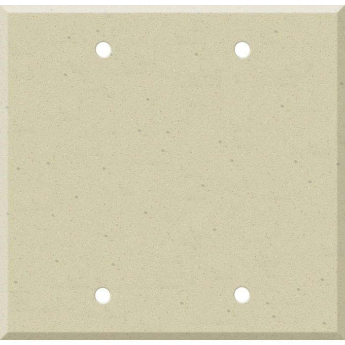 Corian Raffia Double Blank Wallplate Covers
