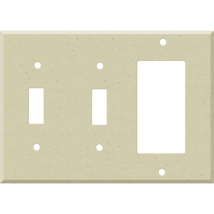 Corian Raffia Double 2 Toggle / 1 GFCI Rocker Combo Switchplates