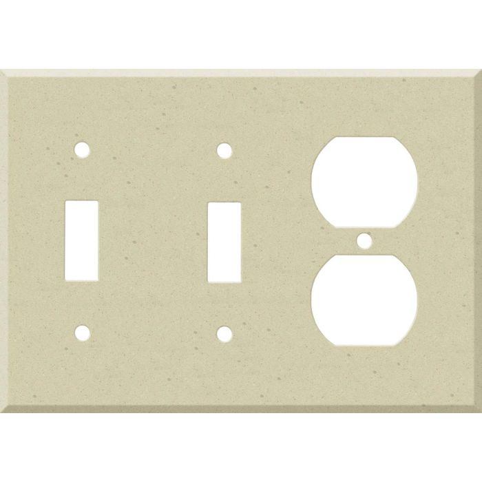 Corian Raffia Double 2 Toggle / Outlet Combination Wall Plates