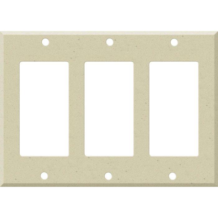 Corian Raffia Triple 3 Rocker GFCI Decora Light Switch Covers