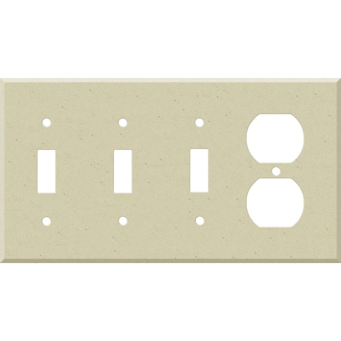 Corian Raffia Combination Triple 3 Toggle / Outlet Wall Plate Covers