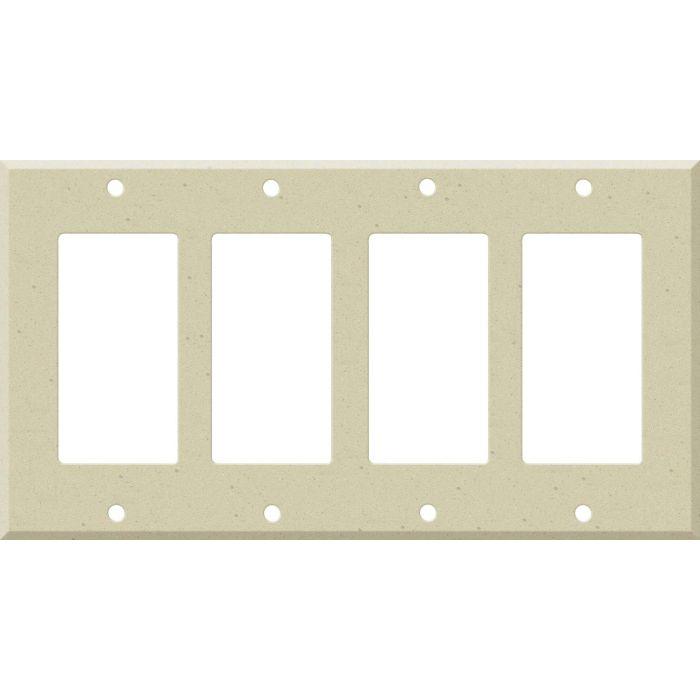 Corian Raffia 4 Rocker GFCI Decorator Switch Plates