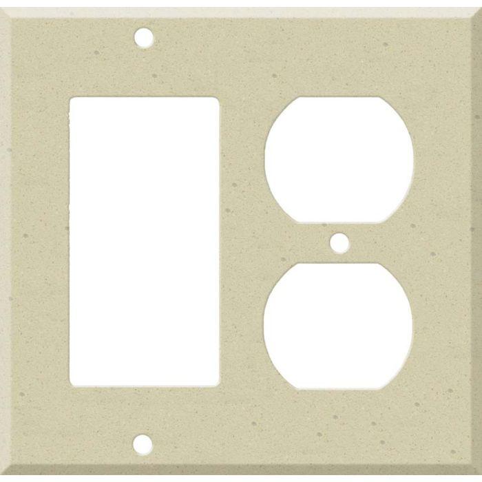 Corian Raffia Combination GFCI Rocker / Duplex Outlet Wall Plates