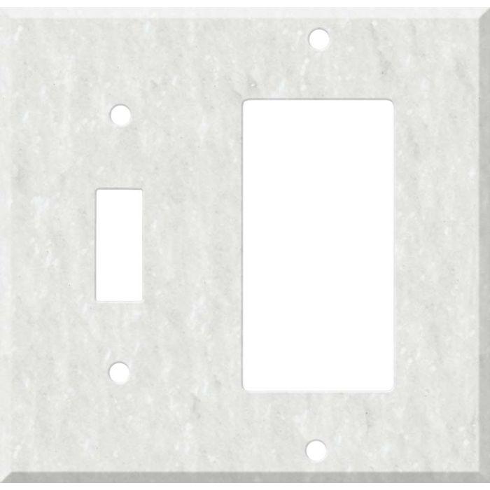 Corian Rain Cloud 1 Toggle Wall Switch Plate - GFI Rocker Cover Combo