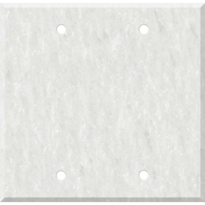 Corian Rain Cloud 2 Double Blank Wall Plates