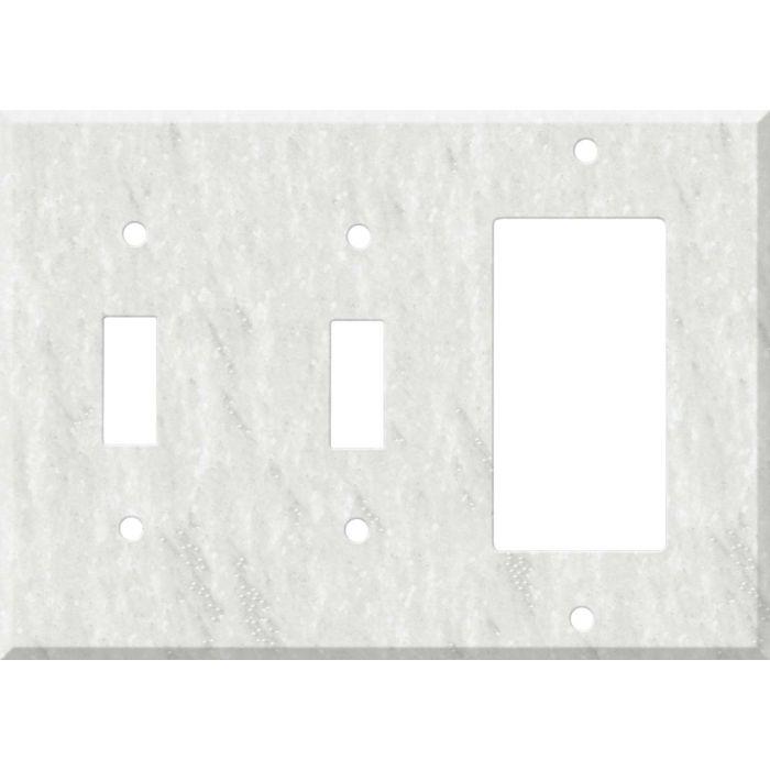 Corian Rain Cloud 2-Toggle / 1-GFI Rocker - Combo Switch Covers