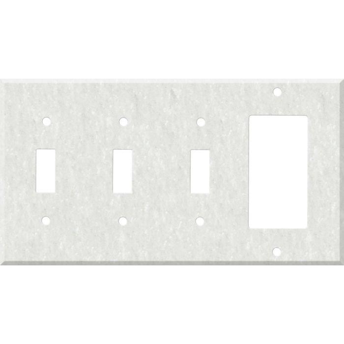 Corian Rain Cloud 3-Toggle / 1-Decorator / Rocker - Combination Wall Plates