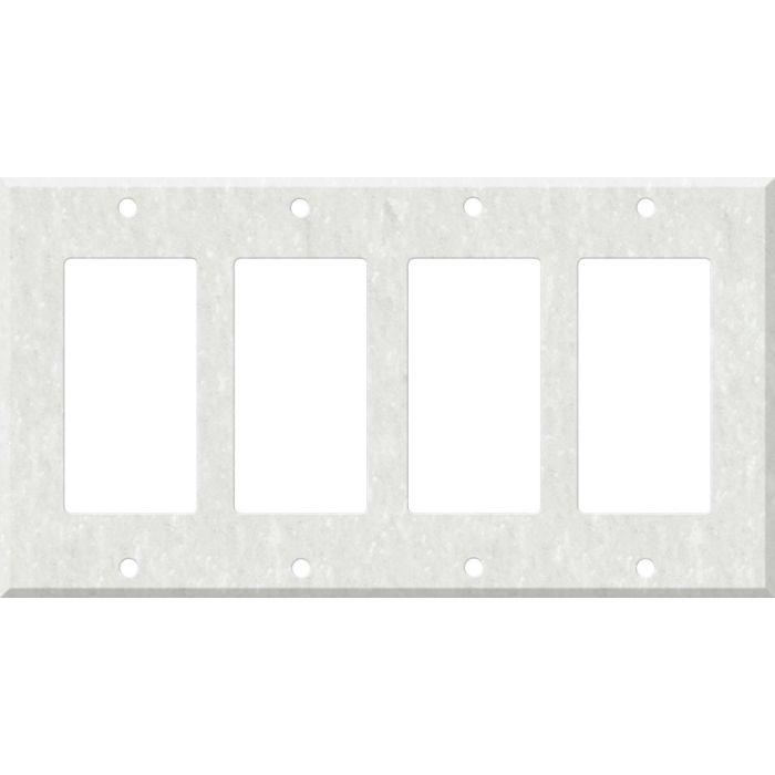 Corian Rain Cloud 4 Rocker GFCI Decorator Switch Plates