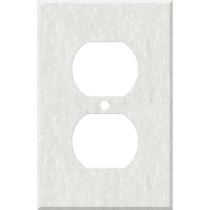 Corian Rain Cloud 1 - Gang Duplex Outlet Cover Wall Plate