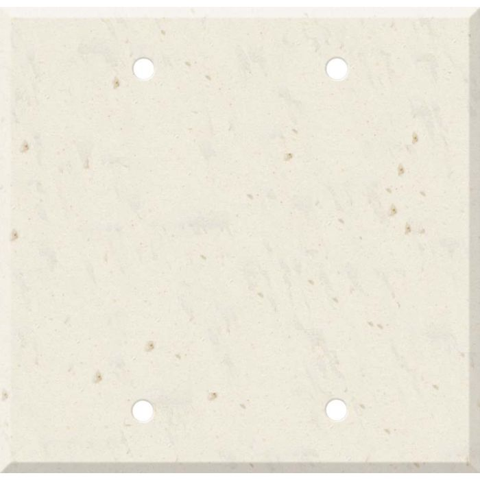 Corian Rice Paper Double Blank Wallplate Covers