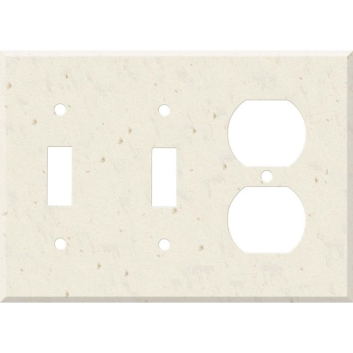 Corian Rice Paper Double 2 Toggle / Outlet Combination Wall Plates