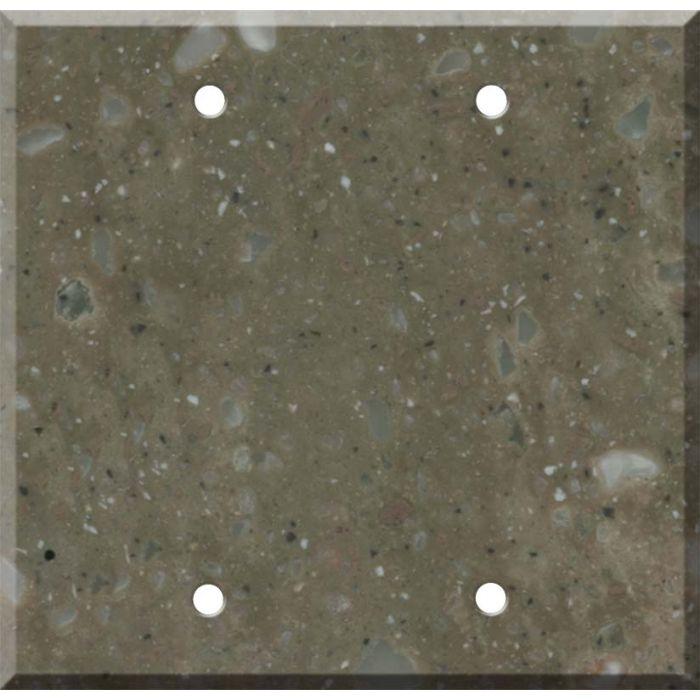 Corian Rosemary Double Blank Wallplate Covers