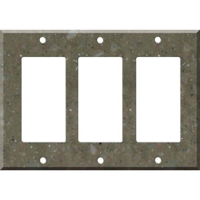 Corian Rosemary Triple 3 Rocker GFCI Decora Light Switch Covers