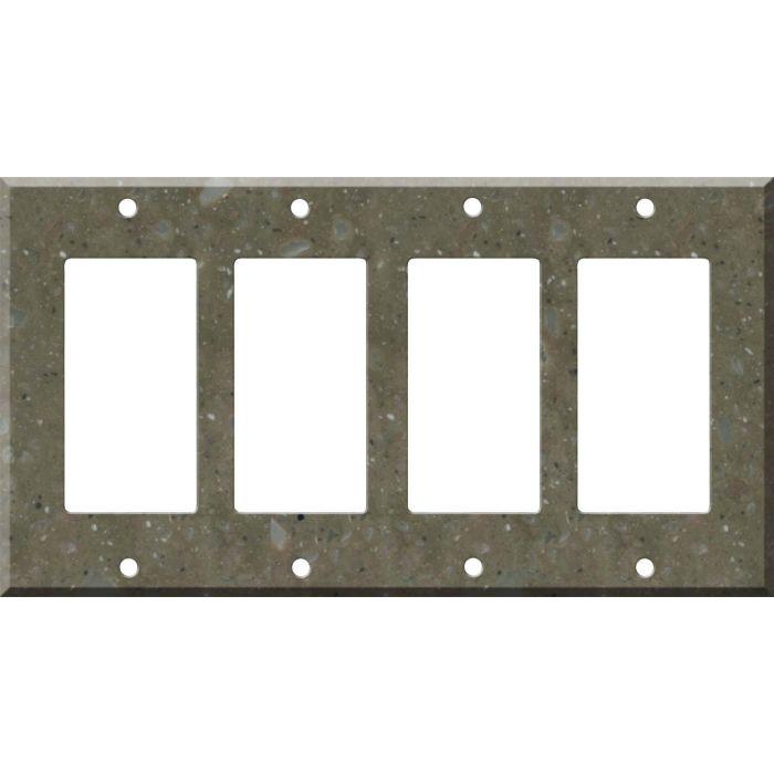 Corian Rosemary 4 Rocker GFCI Decorator Switch Plates