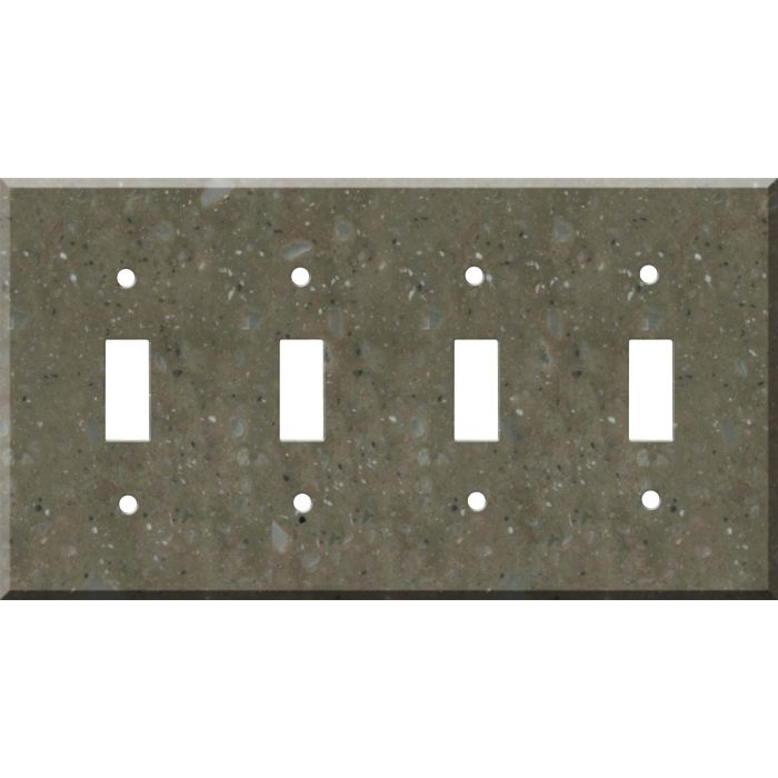 Corian Rosemary Quad 4 Toggle Light Switch Covers
