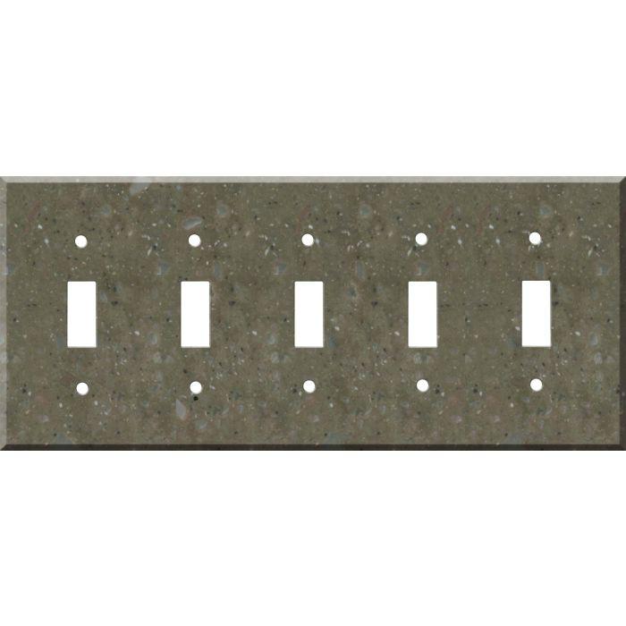 Corian Rosemary 5 Toggle Wall Switch Plates
