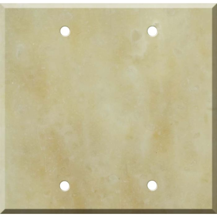 Corian Saffron Double Blank Wallplate Covers