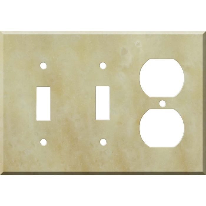 Corian Saffron Double 2 Toggle / Outlet Combination Wall Plates