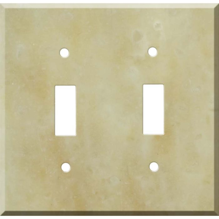 Corian Saffron Double 2 Toggle Switch Plate Covers