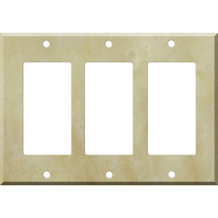 Corian Saffron Triple 3 Rocker GFCI Decora Light Switch Covers
