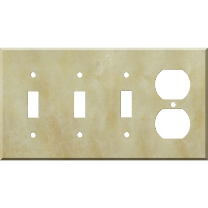 Corian Saffron Combination Triple 3 Toggle / Outlet Wall Plate Covers