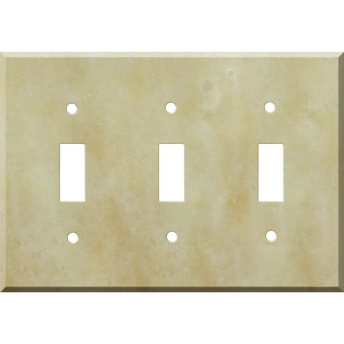 Corian Saffron Triple 3 Toggle Light Switch Covers