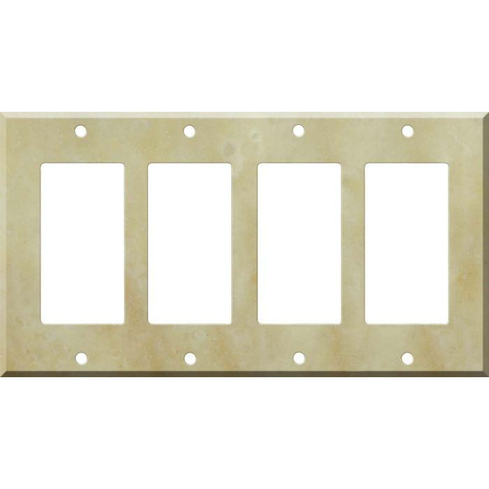 Corian Saffron 4 Rocker GFCI Decorator Switch Plates