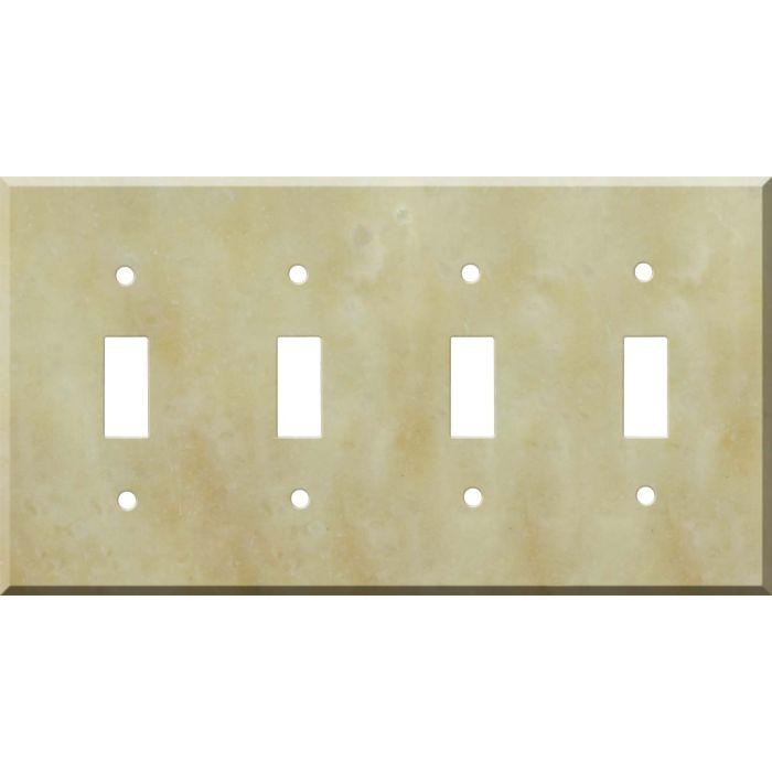 Corian Saffron Quad 4 Toggle Light Switch Covers