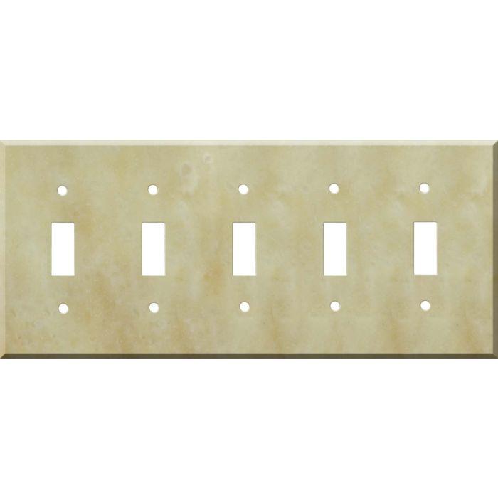 Corian Saffron 5 Toggle Wall Switch Plates