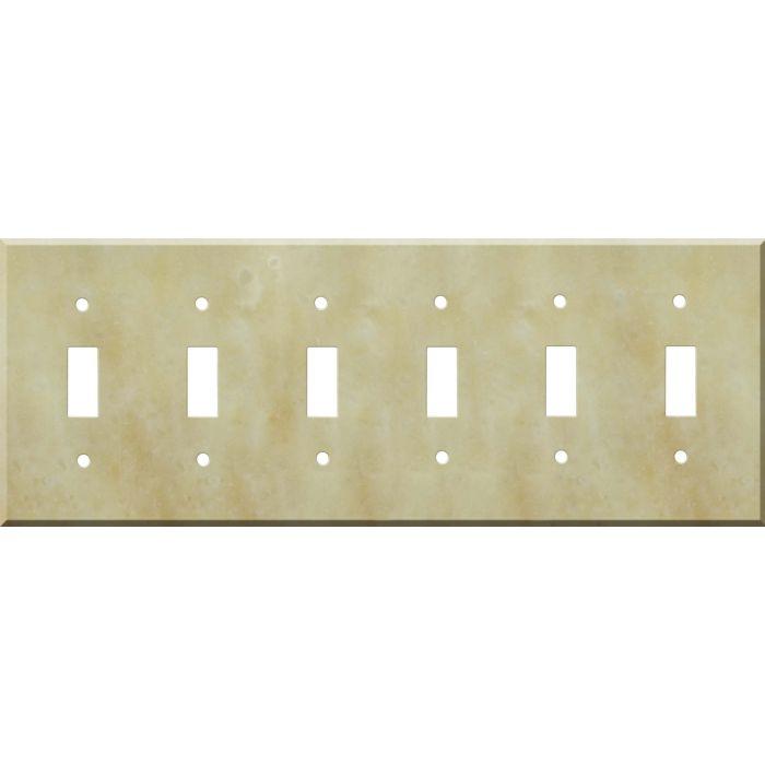 Corian Saffron 6 Toggle Wall Plate Covers
