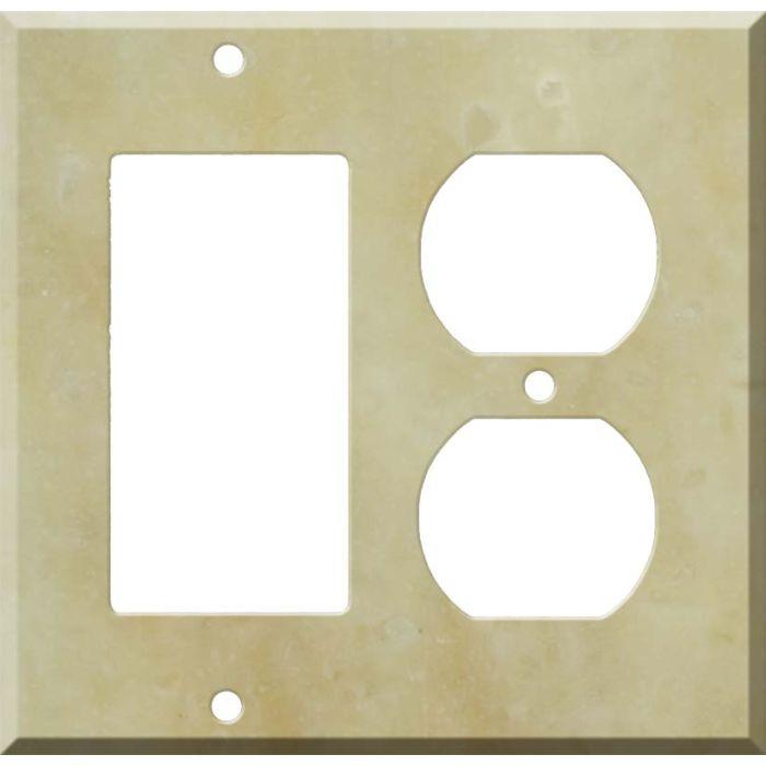 Corian Saffron Combination GFCI Rocker / Duplex Outlet Wall Plates