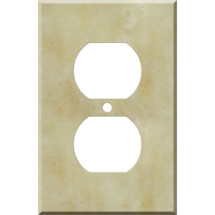 Corian Saffron 1 Gang Duplex Outlet Cover Wall Plate