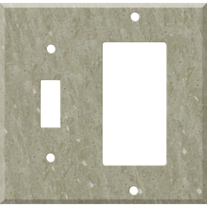 Corian Sagebrush Combination 1 Toggle / Rocker GFCI Switch Covers