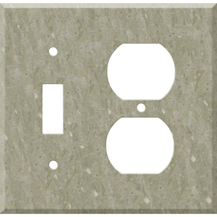 Corian Sagebrush Combination 1 Toggle / Outlet Cover Plates